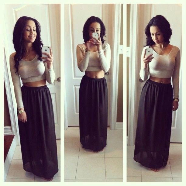 32 best images about cute outfits on Pinterest | Long skirts ...