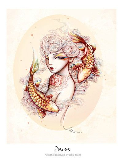 Pisces, The Fishes -12 constellation-(Arist- dou leung)