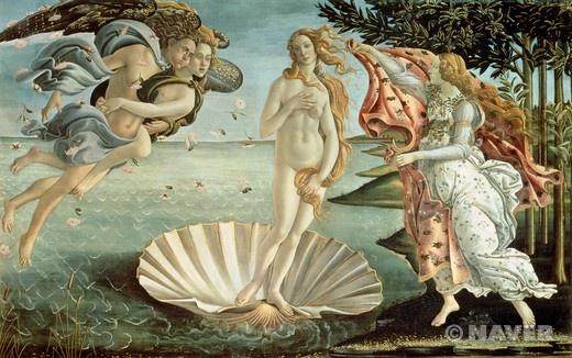 비너스의 탄생 (The Birth of Venus)  산드로 보티첼리(Sandro Botticelli)