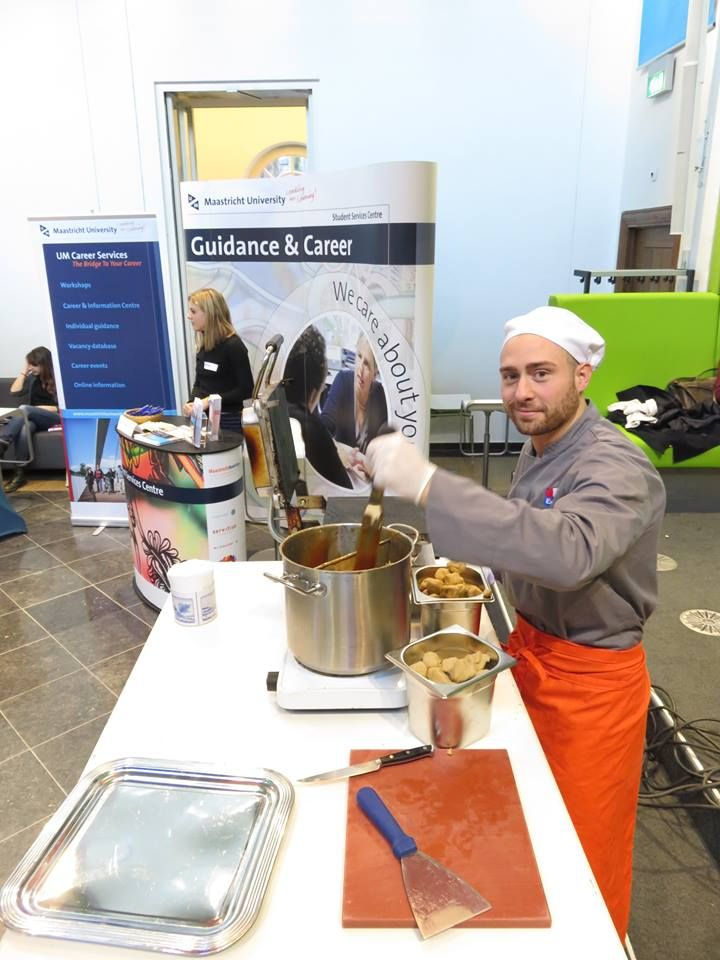Fresh Stroopwafels are being made at our Get Involved information market ;-)