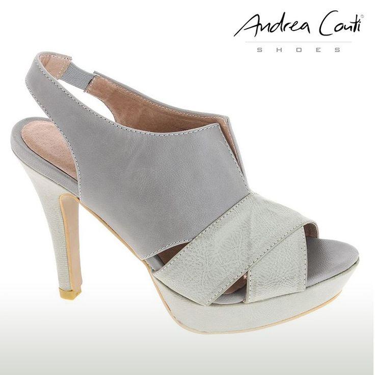 Andrea Conti Leder-Sandalette Grau - 24,99 € bei lesara.de