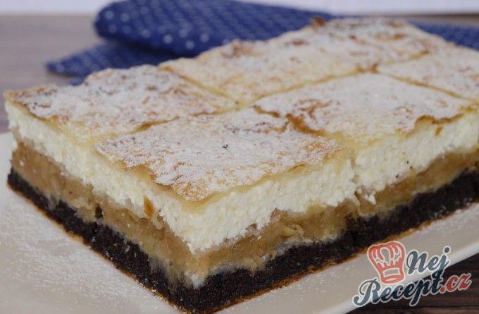 Fantastický koláč s třemi náplněmi | NejRecept.cz