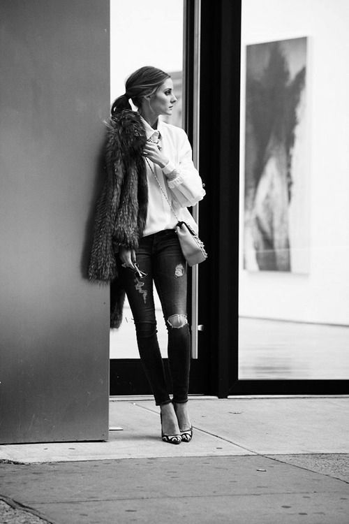 black-and-white-but-not-bland:  Olivia Palermo Street Style