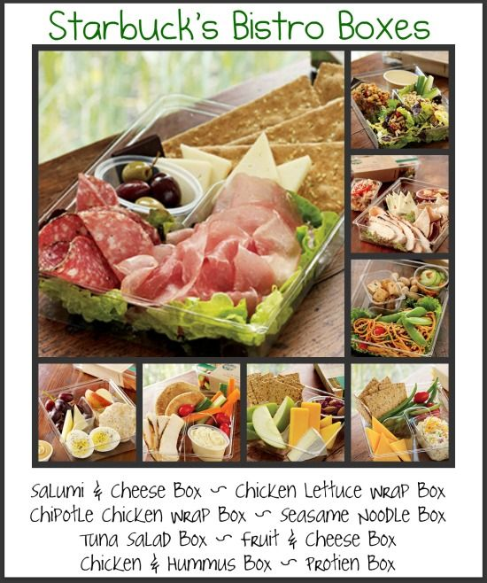 Good concept for work lunches, make it mostly protein. bistro boxes