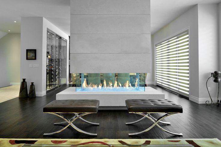 17 meilleures id es propos de mur avec po le bois sur for Foyer exterieur montreal