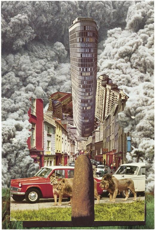 """Saatchi Online Artist: Sean Hillen; Photomontage, Assemblage / Collage """"The Lia Fáil of Wexford, IRELANTIS"""""""