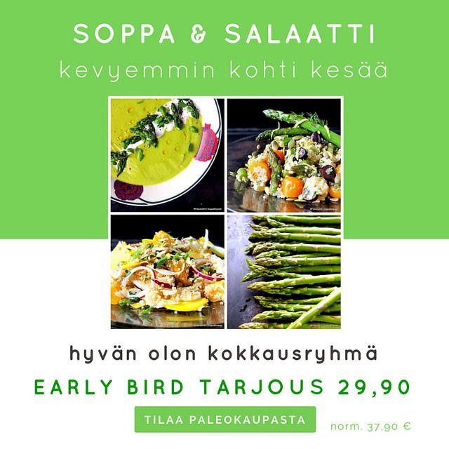 Paleokeittiön Soppa&Salaatti – Iloa ja hyvää oloa kasviksista! | SOPPA&SALAATTI! Mitä tarkoittaa tuo mystinen sanapari, joka on kummitellut blogissa ja instagramissa jo jonkun aikaa? Lyhyesti Paleokeittiön Soppa&Salatti on kaikkiaan 15 päivää kestävä fac…