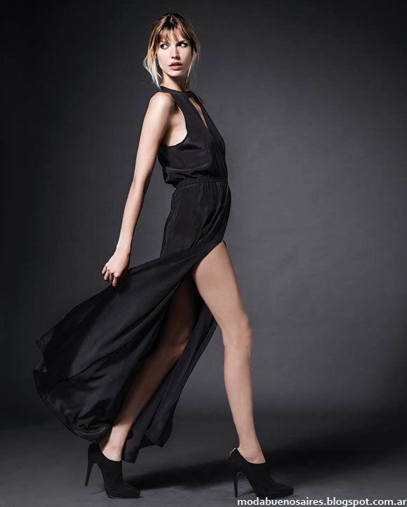 Vestidos de fiesta largos invierno 2014 Etiqueta Negra.