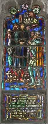 Thomas Cranmer Stained Glass Window, Christ Church, Little Rock, AR