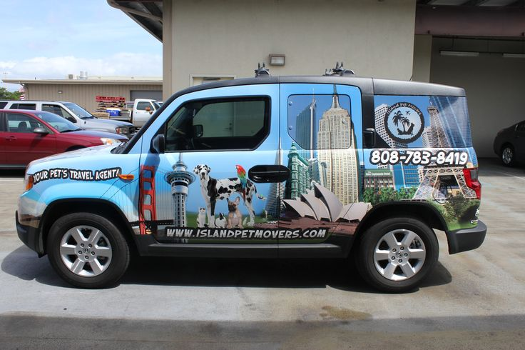 Car wrap for Island Pet Movers