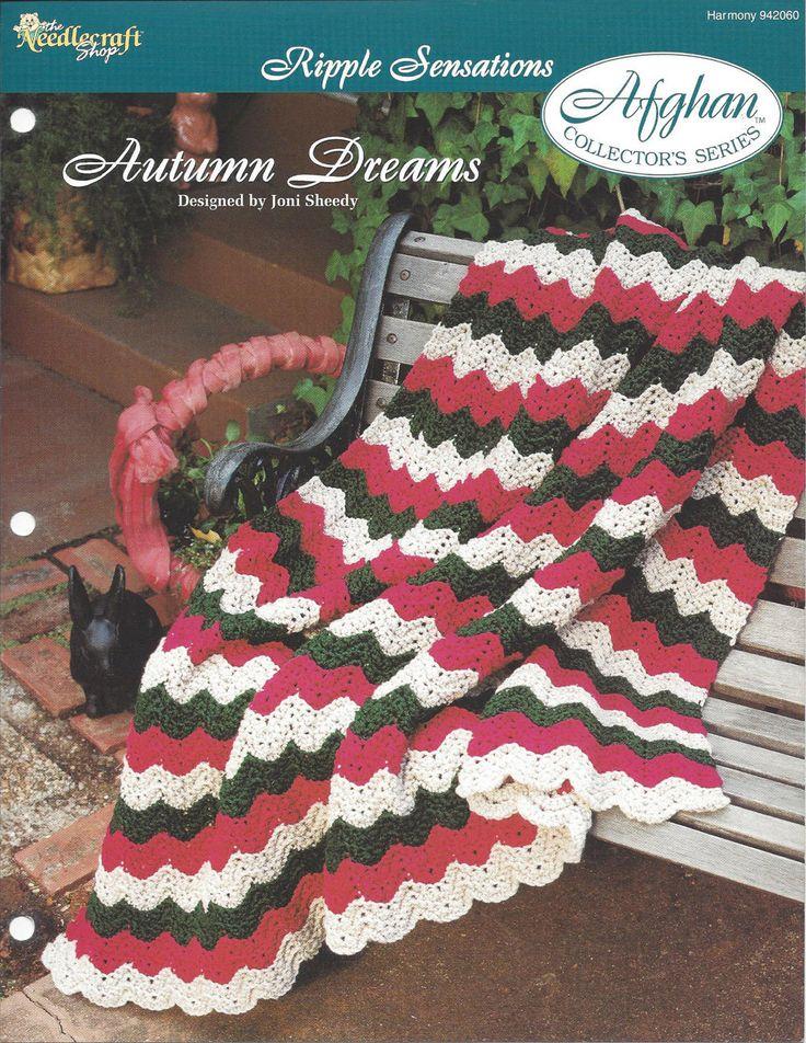 ⭐  Série do Outono Sonhos Afegão Colecionador por itens decorativos malha Criações -  /  ⭐   Autumn Dreams Afghan Collector's Series by Knit Knacks Creations -