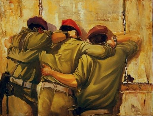 A Beautiful Jewish Art oil painting for sale of Together by steve Karro.   A real Oil on canvas painting only at www.judaica-art.com