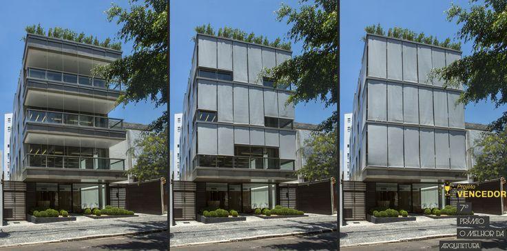 Projeto incrível da Gisele Taranto Arquitetura com nossos toldos: Edifício Lopes Quintas - Vencedor do 7º Prêmio  O Melhor da Arquitetura - Categoria Edifícios Comerciais com menos de 2.000m²