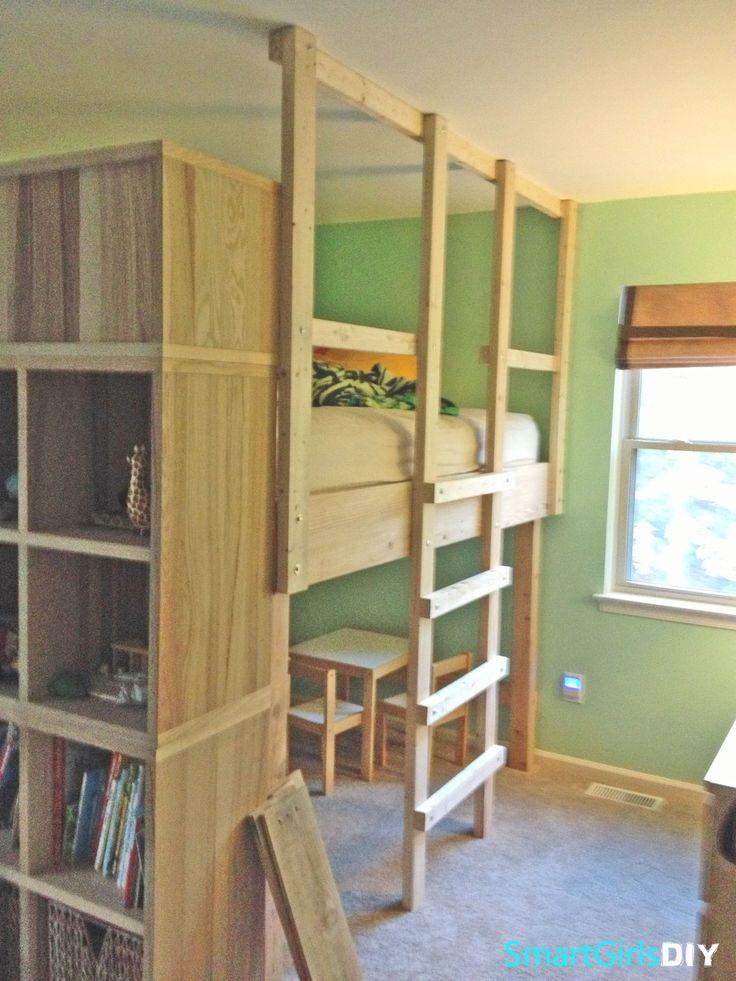 30 best loft bed ideas images on pinterest child room. Black Bedroom Furniture Sets. Home Design Ideas