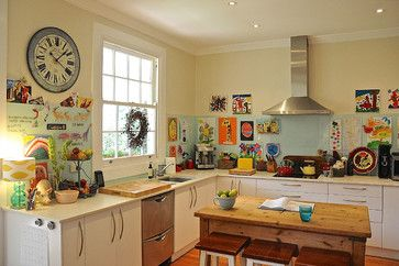 Una cucina allegra. My Houzz: Eclectic Style and Color Rule Here - eclectic - kitchen - adelaide - Luci.D Interiors