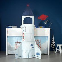 DISCOVERY CHILDREN'S CABIN BED. Rocket Bed for Boys | Space Ship Bed for Children | Childrens NASA Bed | Unique Space Rocket Bed | Unusual Bed for Boys | Quirky Bed for Boys