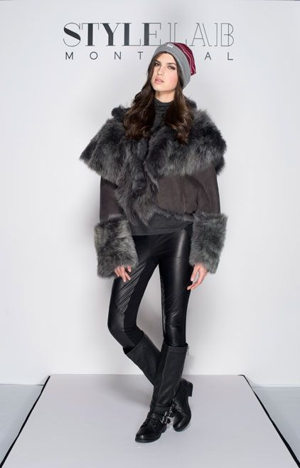 """#LOTD by #imalittle. Mimi straight hair shearling coat in charcoal.– #Lamb.s.Laughter by #PaulHardyDesign / NYC City of Neighbourhoods """"Bushwick"""" / toque - #TuckShopTradingCo. / Pants - #TedBaker"""