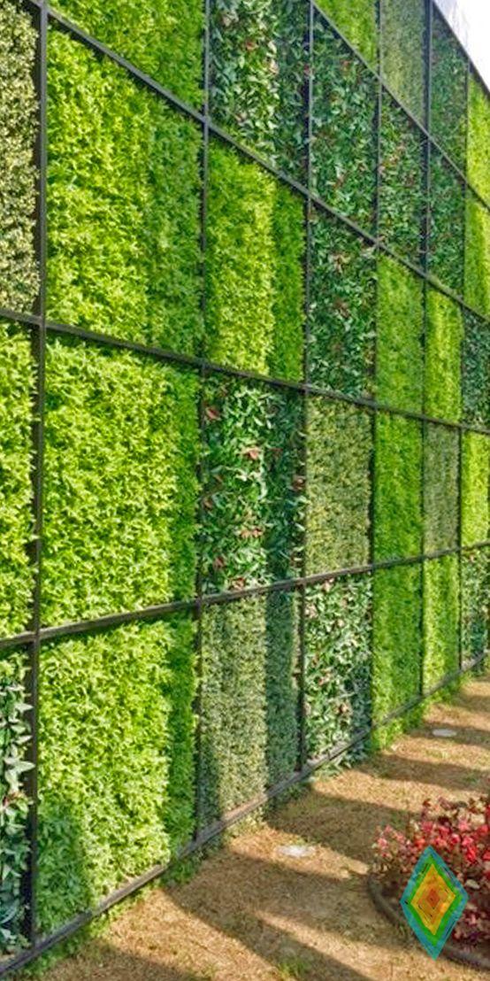 13 mejores im genes de jardines verticales artificiales for Imagenes de jardines verticales