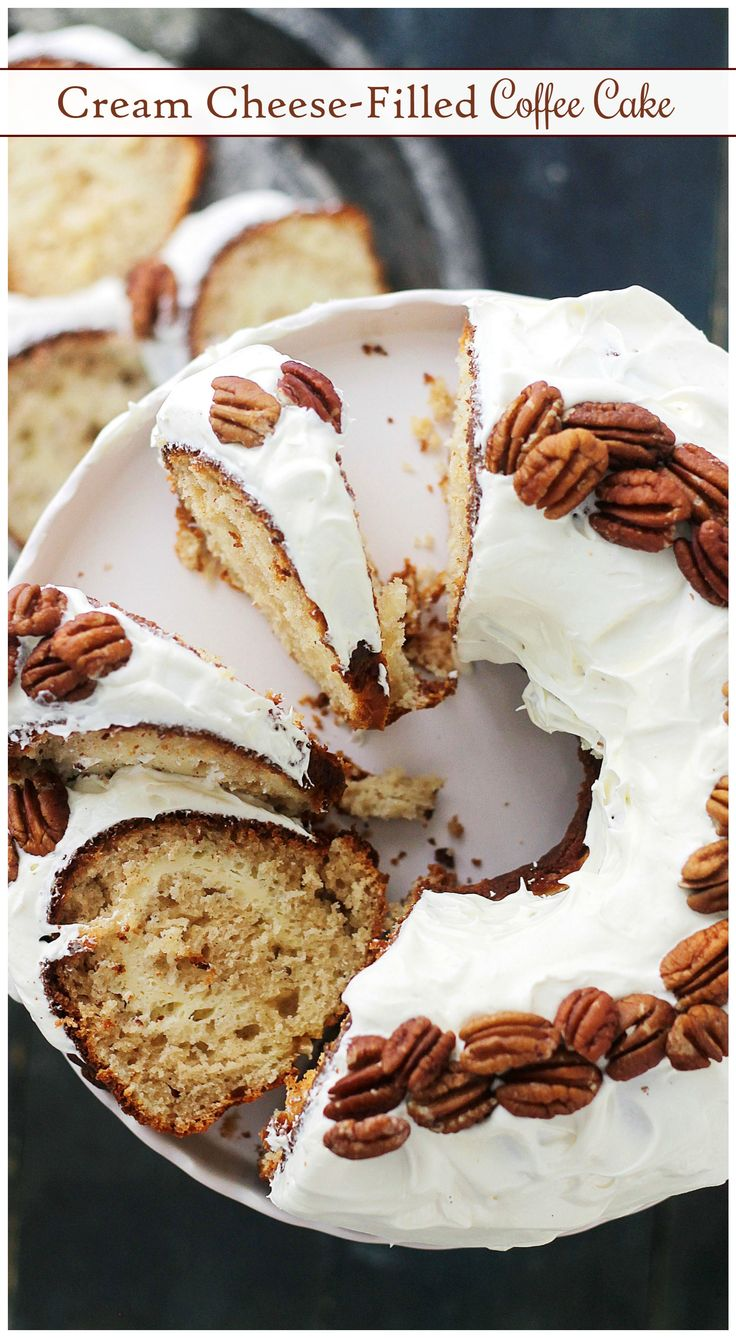 Cream Cheese-Filled Coffee Cake - With a rich cream cheese icing and a delicious cream cheese filling, this is your coffee's new best friend!