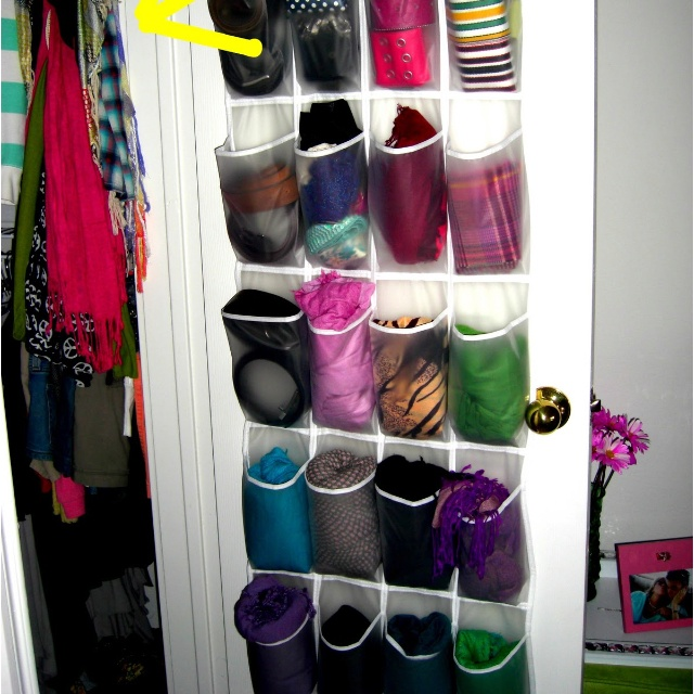 Easy organization for scarves!