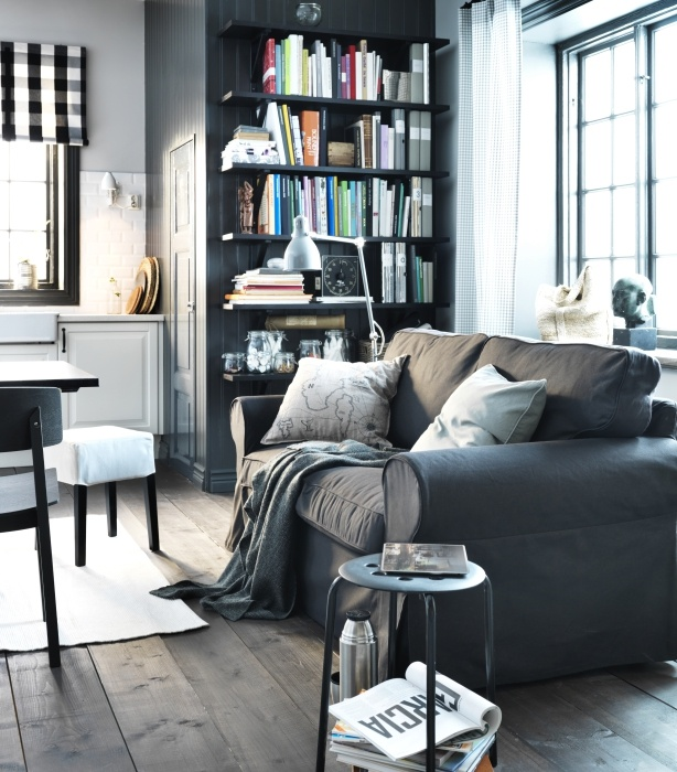 Relaxing Black Ideas From 2013 IKEA Living Room Design For Small Space Interior