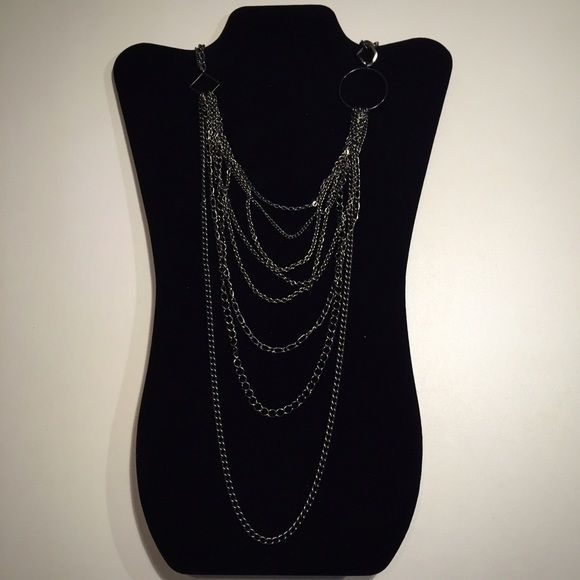 "Multi-length Pewter Tone Chain Necklace Gorgeous multi-length pewter tone chain necklace. Necklace drop - 21"". Excellent pre-owned condition with minimal wear. Jewelry Necklaces"