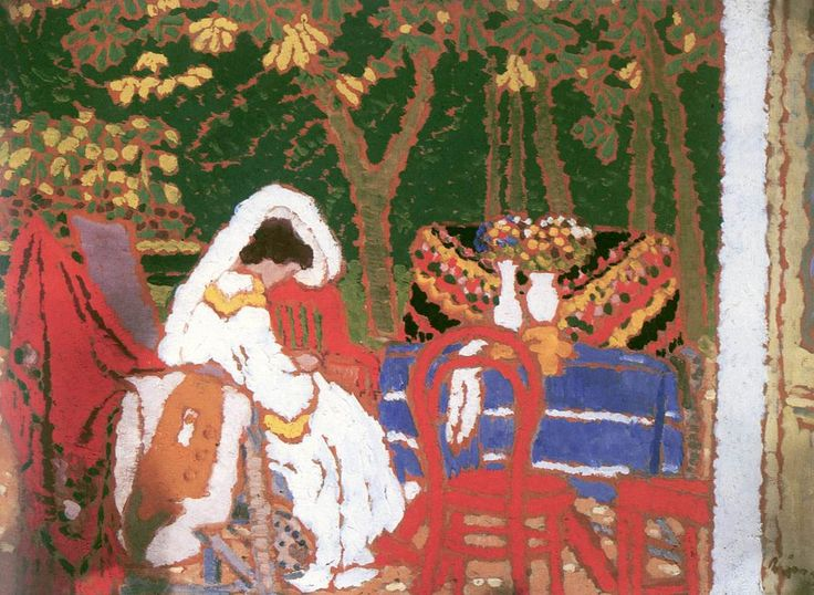 The Athenaeum - In the Garden (József Rippl-Rónai - )