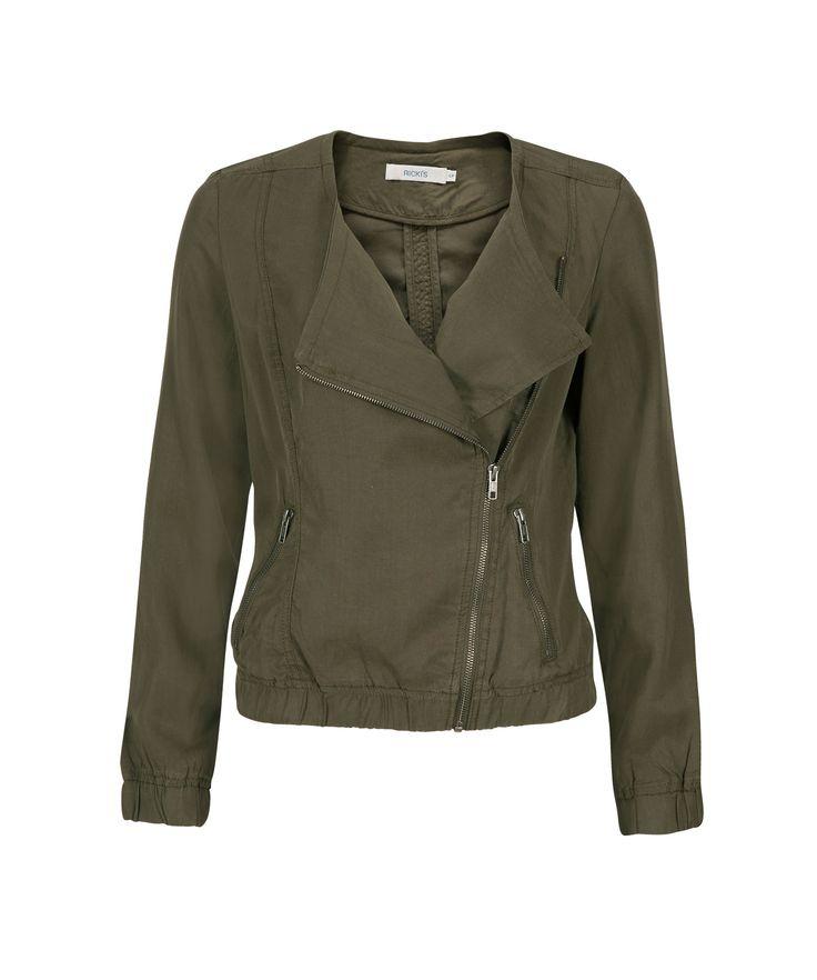 Tencel Moto JacketTencel Moto Jacket, Fern