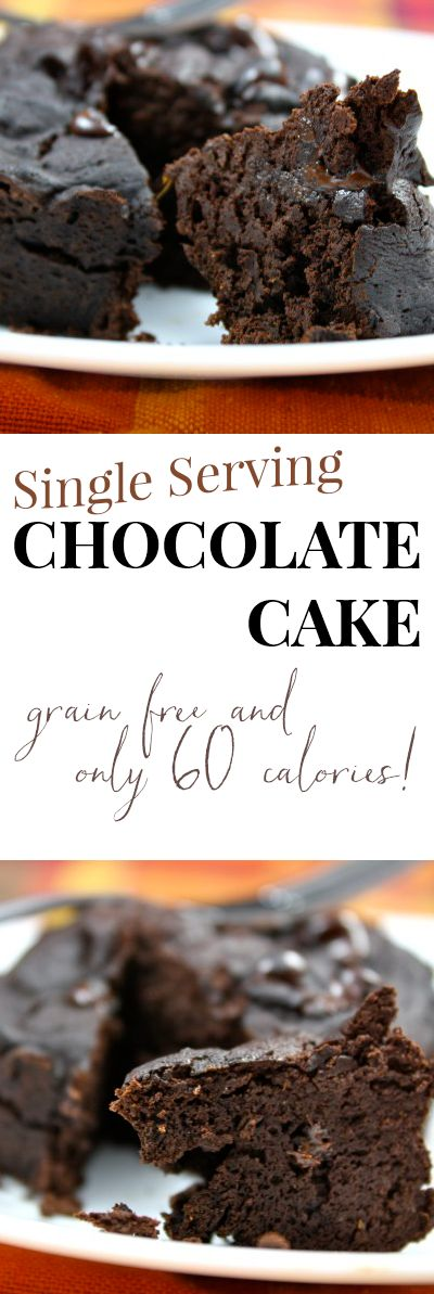 Single serving chocolate cake. Ready in 3 minutes and only 60 calories! Sixty! For the whole cake!