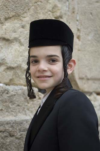 A smiling Jewish boy - Jeruzalem, Foto A. Cassidy