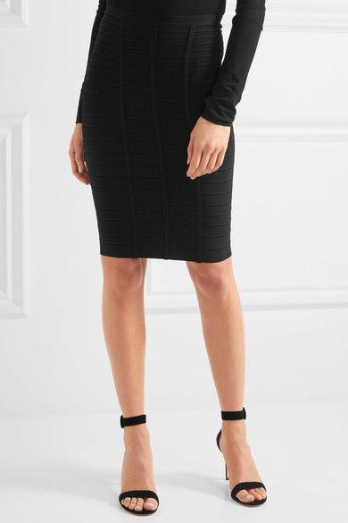 Hervé Léger - Sia Bandage Skirt - Black -