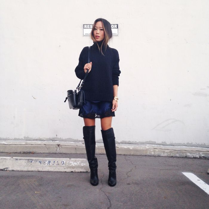 thigh high boots aimee song