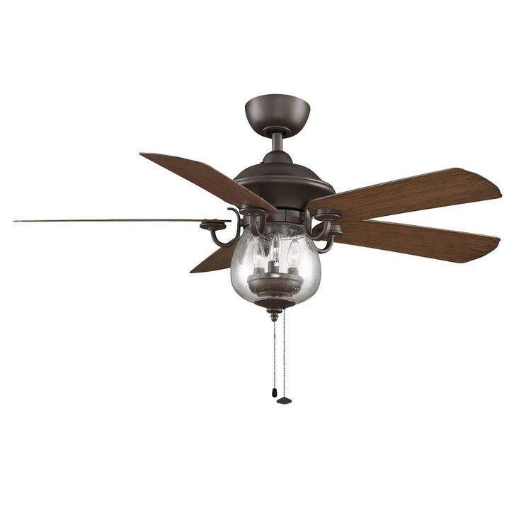 Vintage Charm Is Yours When You Add This Stylish And Functional Ceiling Fan  With Lights To