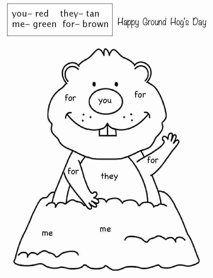 Ground Hog Day Coloring Page New Free Printable Groundhog ...