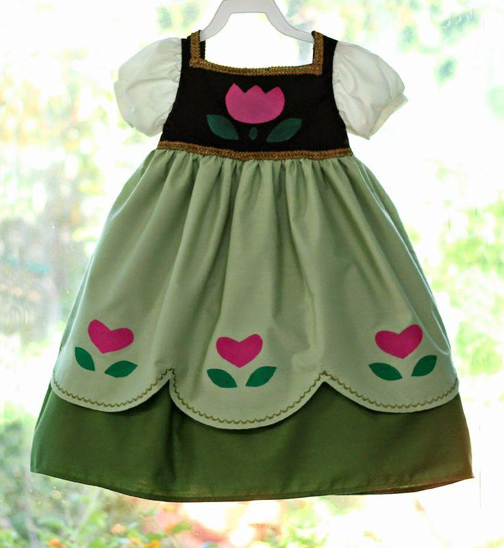 Peaches and Bees: Disney Frozen's Little Anna Dress