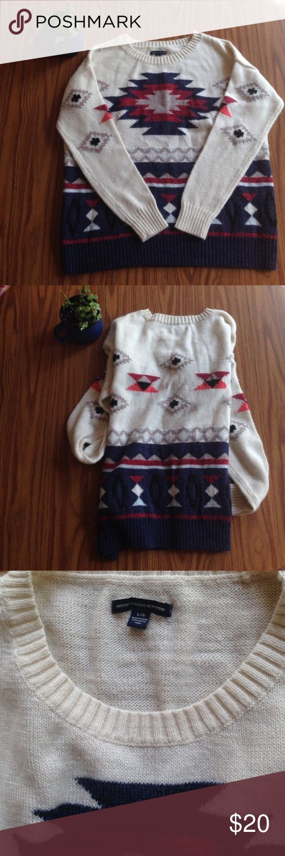 American Eagle Aztec Sweater Gentle use. Super comfy. Aztec patterned. American Eagle Outfitters Sweaters Crew & Scoop Necks