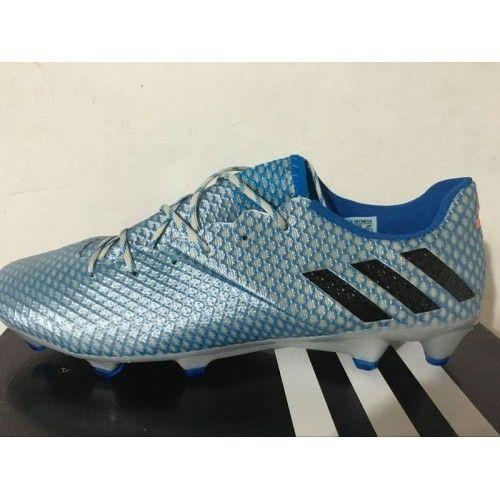 Beste Adidas Messi 16 Pureagility FG AG Bla Solv Oransje Herre Fotballsko -Kjøpe Adidas Messi Fotballsko
