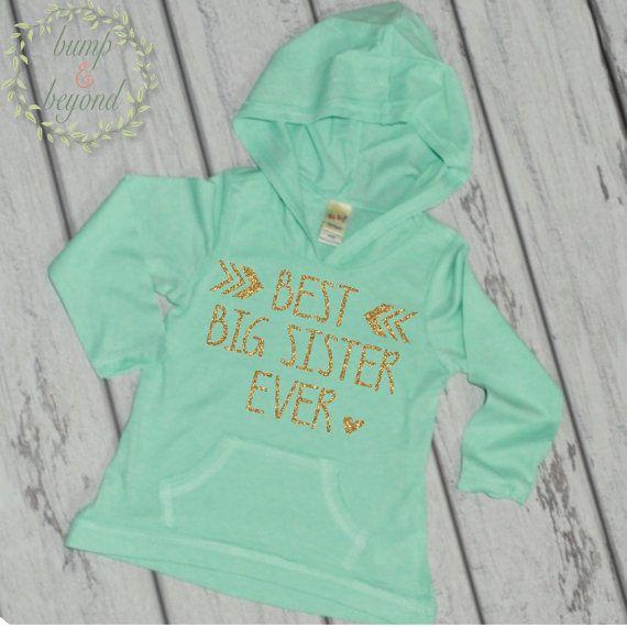Big Sister Shirt Sibling Big Sister Gift by BumpAndBeyondDesigns