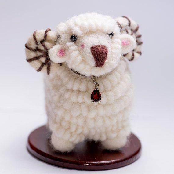 Zilveren hanger met witte schapen Womens Christmas gift Zodiac talisman sieraden haar verjaardag-halfedelstenen zachte interieur sculptuur schapen