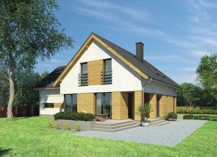 """""""Mgła nad rzeką"""" Murator M180 - propozycja projektu domu dla dużej rodziny, która ceni sobie przestrzeń i wygodę"""
