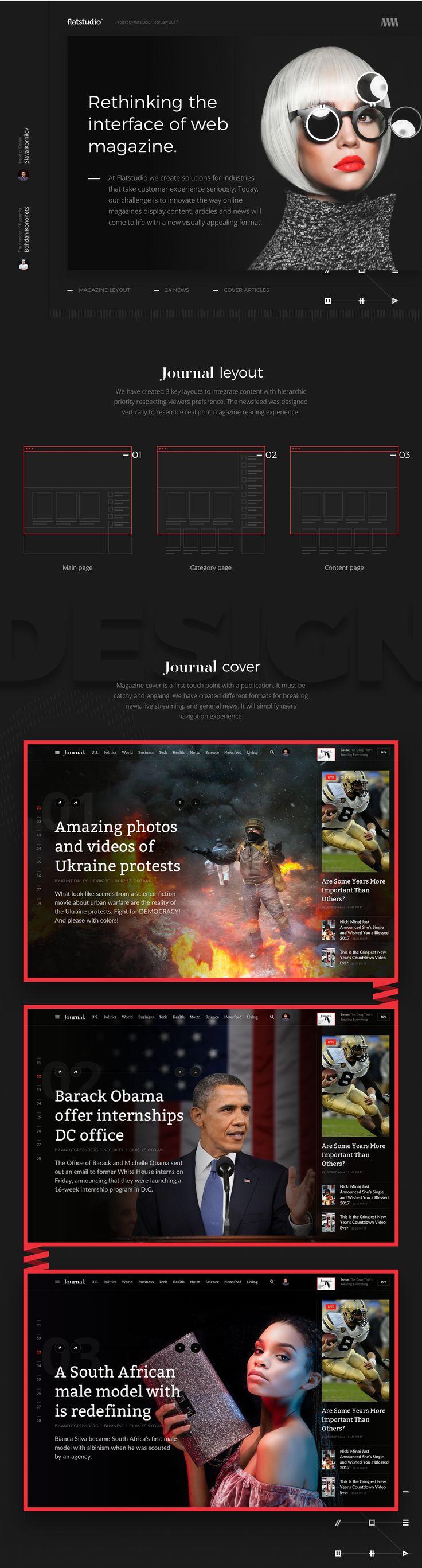 Ux solutions digital art director and motion designer based in noosa - Web Design The Journal Concept Ui Ux