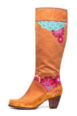 """Desigual Women's Esther high boots. Zip fastening. Heel height: 6 cm. / 2.3"""""""