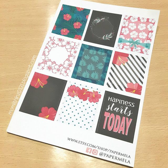 Boxes Hibiscus Collection Planner Stickers
