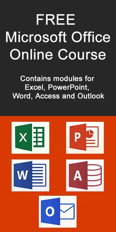 FREE Microsoft Office online course: Contains modules for Excel