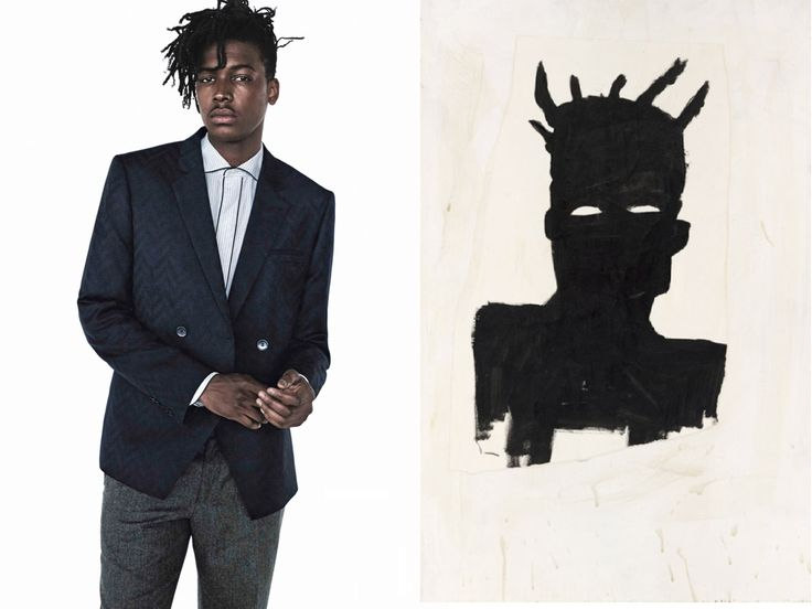 Matthew Davidson  x Jean-Michel Basquiat, Self Portrait (Plaid), 1983