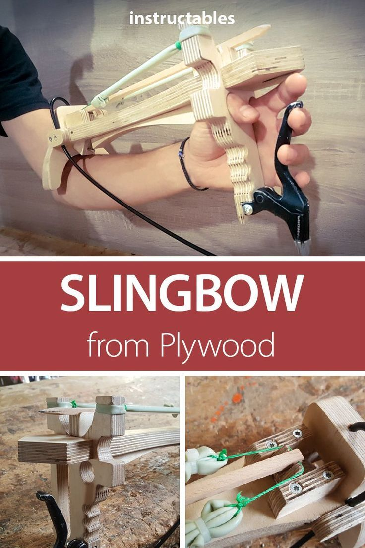 Diy Slingbow From Plywood Diy Wood Projects Wood Diy Projects