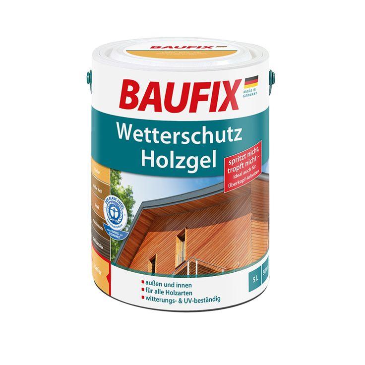 BAUFIX Wetterschutz-Holzgel ist eine atmungsaktive Holzlasur für den Außen- und Innenbereich. Durch die hohe Witterungs- & UV-Beständigkeit eignet sich die Holzlasur für alle Holzarten inklusive der tropischen Holzarten und ist dank der tropf- und spritzfreien Konsistenz sehr unkompliziert und komfortabel in der Verarbeitung. Das BAUFIX Wetterschutz-Holzgel findet überall dort Anwendung, wo bester Wetterschutz und eine strapazierfähige Oberfläche erwünscht ist.