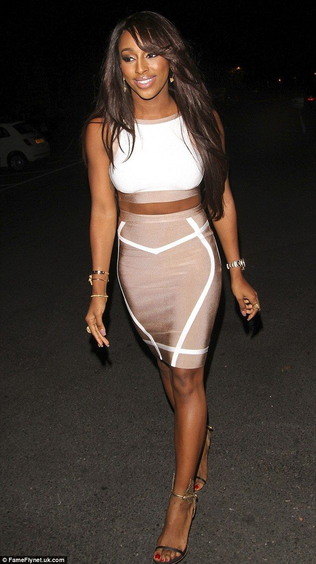 Birthday girl: Alexandra Burke celebrated her 26th birthday with family and friends at Gil...