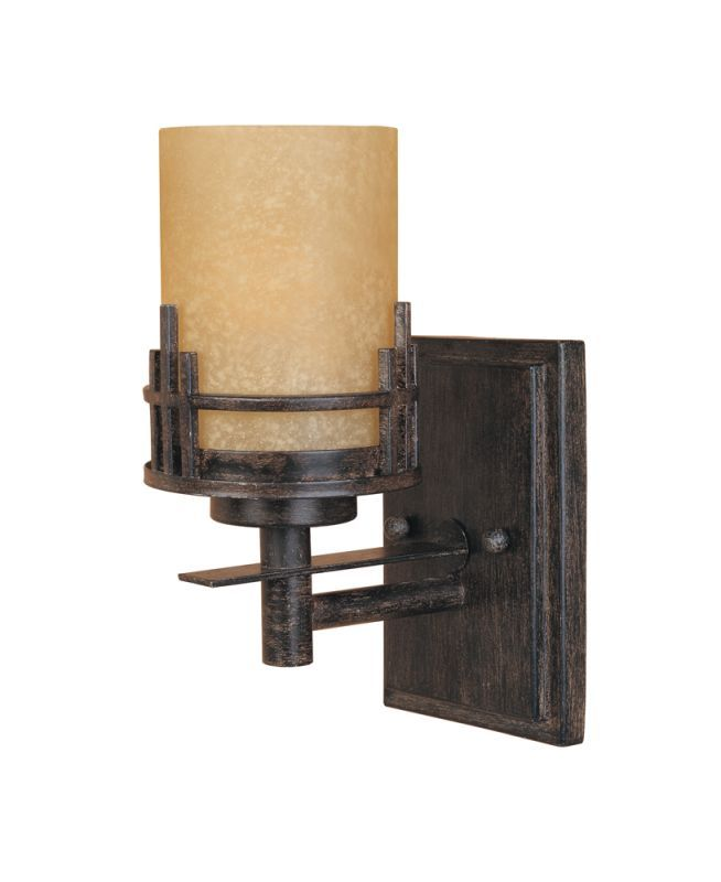 Designers Fountain 82101 Asian Single Light Up Lighting Wall Sconce from the Mis Warm Mahogany Indoor Lighting Wall Sconces Up Lighting