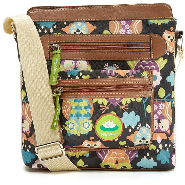 Lily Bloom Whata Hoot Bella Crossbody Bag ($20) ❤ liked on Polyvore featuring bags, handbags, shoulder bags, lily bloom, crossbody handbags, multi pocket purse, lily bloom handbags and imitation purses